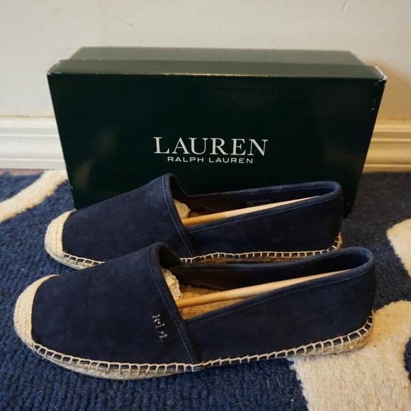 1686506213b5e Ralph Lauren Danita Flat Espadrilles Shoes Navy NWT